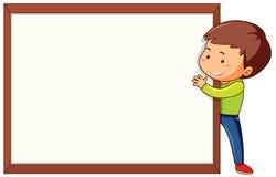 Pojke med den tomma rammallen stock illustrationer