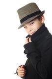 Pojke med en hatt Arkivbilder