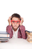 Pojke med lärande svårighet Arkivfoton