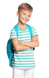 Pojke med ryggsäck Royaltyfri Foto