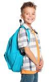 Pojke med ryggsäcken Royaltyfria Foton