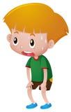 Pojke med svett på hans framsida vektor illustrationer