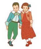 Pojke och flicka Arkivfoton