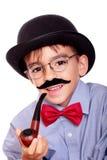 Pojke och mustasch arkivbilder