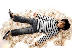 Pojke och pengar Arkivfoton