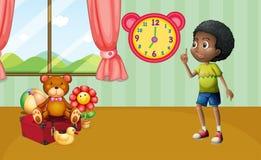 Pojke och toys Fotografering för Bildbyråer