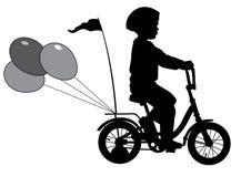 Pojke på bike02 Fotografering för Bildbyråer