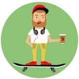 Pojke på skateboarden Royaltyfri Fotografi