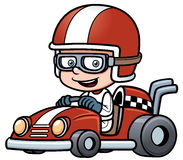 Pojke Racing Arkivfoton