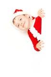 Pojke Santa Claus Arkivfoto