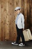 Pojke som är klar för semester Fotografering för Bildbyråer