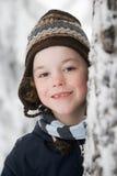 Pojke som bär en hatt Royaltyfri Foto