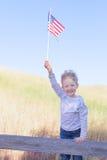 Pojke som firar 4th Juli Royaltyfria Bilder