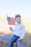 Pojke som firar 4th Juli Fotografering för Bildbyråer