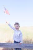 Pojke som firar 4th Juli Arkivfoton
