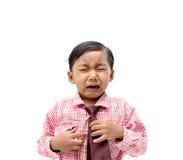 pojke som gråter fyra moonstjärnor Arkivbild