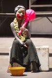 Pojke som kläs som Lordï ¿ ½ Hanuman Royaltyfri Bild