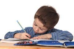 pojke som lärer barn Royaltyfri Fotografi