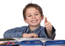 pojke som lärer barn Arkivfoto