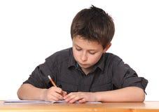 pojke som lärer barn Arkivfoton
