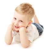 pojke som little skrattar Royaltyfria Bilder