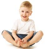 pojke som little skrattar Fotografering för Bildbyråer