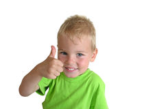 pojke som ok ger sig Fotografering för Bildbyråer
