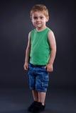 pojke som plattforer två år Royaltyfri Foto
