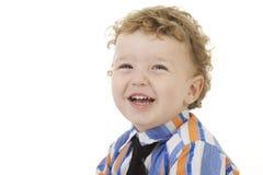 pojke som smailing Fotografering för Bildbyråer