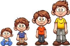 Pojke som växer upp stock illustrationer