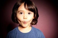 pojke stöt litet barn Fotografering för Bildbyråer