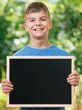 Pojke tillbaka till skolan Fotografering för Bildbyråer