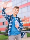 Pojke tillbaka till skolan Royaltyfri Bild