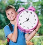 Pojke tillbaka till skolan Royaltyfri Fotografi