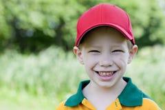 Pojke utomhus Fotografering för Bildbyråer