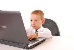 pojkeaffär en Fotografering för Bildbyråer