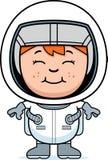 Pojkeastronaut vektor illustrationer