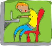 pojkebärbar dator vektor illustrationer