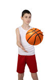 Pojkebasketspelare arkivbild