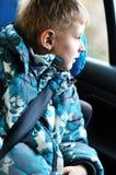 pojkecarseat Fotografering för Bildbyråer