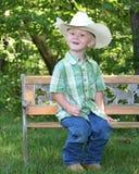 pojkecowboyhatt little Royaltyfri Fotografi
