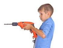pojkedrill Fotografering för Bildbyråer