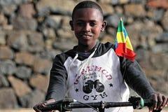pojkeethiopia ethiopian stolt Arkivbild
