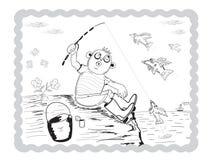 Pojkefiskare Royaltyfria Foton