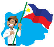 pojkeflagga Royaltyfri Fotografi