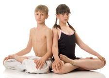 pojkeflickasport Fotografering för Bildbyråer