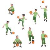 pojkefotbollsspelarefotboll Arkivbilder