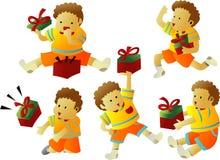 pojkegåvor stock illustrationer