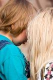 pojkegråt för 4 ålder royaltyfria bilder