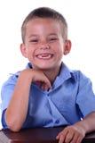 pojkegrundskola för barn mellan 5 och 11 år Fotografering för Bildbyråer